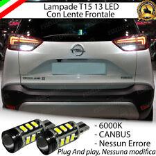 COPPIA LAMPADE RETROMARCIA 13 LED T15 W16W CANBUS OPEL CROSSLAND X NO AVARIA