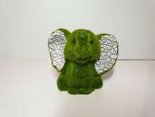 Mini Flocked Effect Elephant Animal Garden Ornament Ornaments Indoor Outdoor