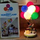 VINTAGE DOLLY TOY BALLOON VENDOR NURSERY LAMP & Night Light Clown in Box