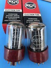 RCA 5692/6SN7 Tubes NOS 1956 Pair Exellent Cond.original Boxes