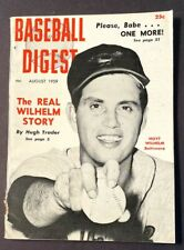 VINTAGE BASEBALL DIGEST HOYT WILHELM AUGUST 1959 VOL 18 NO 7