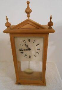 Wanduhr Hermle Pendeluhr Holz Design Standuhr NP: 150EURO Quartz RAR Rarität Uhr
