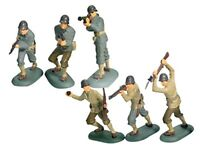 BRITAINS SUPER DEETAIL WWII US Army Infantry Set 6 Painted Plastic MIP FREE SHIP
