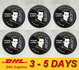 6x75g. GATSBY Mat and Hard Hair Styling Wax From JAPAN Style Smart Natural