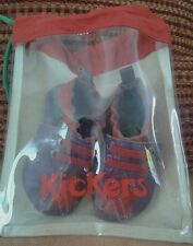 KICKERS chaussons cuir souple 0/6 mois