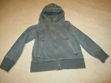 Euc Designer Diesel Zipper Up Hooded Gray Sweatshirt Jacket Boys Clothes Size 5