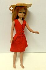 Vintage Bendable Leg Skipper #1030 Titan Red Hair Red Sensation #1901 Outfit