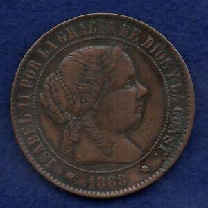Spain, 1868 5 Centimos (Ref. c8241)