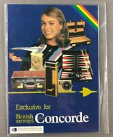 BRITISH AIRWAYS CONCORDE ROZ HANBY GIFT BROCHURE & ORDER FORM OLD CROWN LOGO BA
