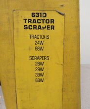 Caterpillar Cat 631D Tractor Scraper Service Manual 24W 28W 29W 39W 66W 68W