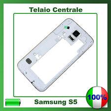 cornice middle frame Samsung S5 G900F centrale cover telaio BIANCO NERO