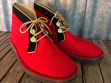 RARE! Clarks RED DESERT BOOTS Hainsworth SARGEANT PEPPERS 9 Royal Guard
