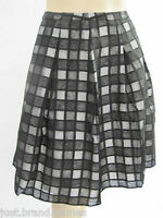 Autograph Ladies Text Check Mid Skirt sizes 14 16 26 Colour Black Grey