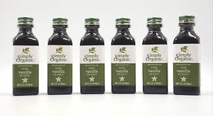 Simply Organic Pure Vanilla Extract Certified Organic 2 oz Pack of 6 Exp 8/23