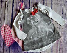 Monnalisa Baby Girls Designer Dress Bambi Kiss 18 Months VGC