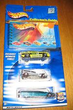 NIB HOT WHEELS 2003 COLLECTOR'S GUIDE W/ 3 CARS 35 ANN.