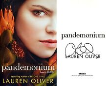 Lauren Oliver~SIGNED~Pandemonium~1st/1st HC + Photos!! ~ Sequel to Delirium