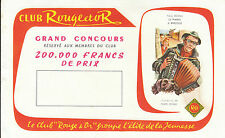 Buvard Vintage  Club Rouge & Or  Paul Berna au Piano  Illustr de P . Dehay