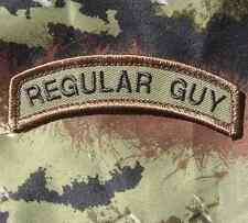 REGULAR GUY TAB ARMY COMBAT MILITARY ISAF FOREST VELCRO® BRAND FASTENER PATCH
