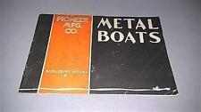 1936 Pioneer Metal Boat Catalog 24 Pages Very Good Condition