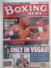 Boxing News 25 Aug 1995 Tyson McNeeley Robinson Hamed Eamon Loughran Roy Francis