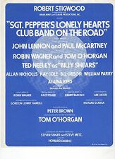 Beatles Sgt Pepper's Lonely Hearts Club Band On The Road Beacon Theatre Program