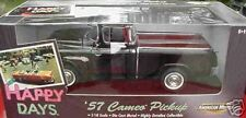 1957 Chevy Cameo Pickup Black Happy Days 1:18 Ertl American Muscle 32855