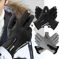 Men Women Winter Ski Gloves Warm Waterproof Thermal Touch Screen Snow Mittens