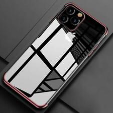 For iPhone 11 Pro Max 11 Ultra Slim Clear Plating TPU Shockproof Soft Case Cover