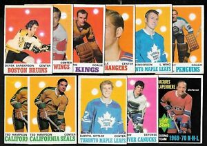 1970-71 OPC O PEE CHEE NHL HOCKEY ERROR VARIATION & DECKLE EDGE 133-264 SEE LIST