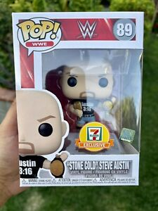 FREE PROTECTOR!!! FUNKO POP! WWE STONE COLD STEVE AUSTIN 2 BELTS 7-11 EXCLUSIVE