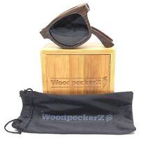Woodpeckerz Fabulous Flex Brown WP900052 Dark Brown Rectangle Sunglasses