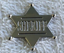 OLD WEST -  SHERIFF'S  STAR  -- LAPEL / HAT PIN BADGE - . A010604