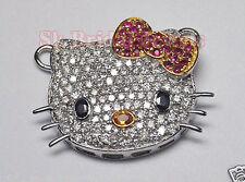 Hello Kitty 2.75ct IJ/SI ROUND DIAMOND GEMSTONE 14k GOLD/6.750gm WEDDING PENDANT