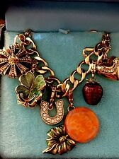 JUICY COUTURE RARE  5 CHARMS CLOVER CROWN STRAWBERRY LOLLIPOP LAST ONE!!