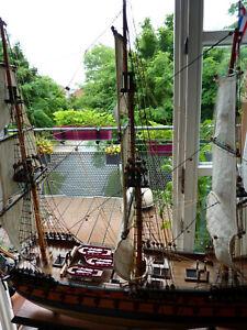 """Segelschiff Kriegsschiff """"HMS Agamemnon"""" 3-Master Holzschiff Schiffsmodell"""