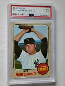 1968 Topps Bill Monbouquette Card PSA7 Red Sox, Yankees #234