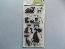 INKADINKADO RUBBER STAMPS CLEAR DOGS STAMP SET