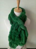 Fashion100% Real Rabbit Fur Handmade Wraps Scarves Warm Shawl Scarfs AAA