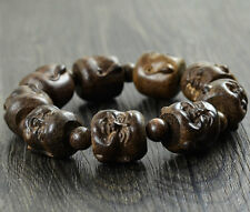 20MM Nice Natural Blackwood Laughing Buddha Beads Wood Bracelet For Cool Man