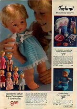 1973 ADVERTISEMENT Doll Baby Penny Cuddly Cathy Tiny Tears Italy Serenella