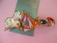 Fiona Artist Studio porcelain gold luster Ginkgo leaf French unique barrette