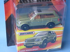 Matchbox Range Rover Sport Light Metallic Green Body Toy Model Car 70mm Rare