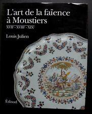 L'art de la faience à Moustiers Edisud Louis Julien livre 255 pages