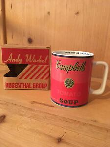 Rosenthal Andy Warhol, Becher Campell´s Soup, neu OVP