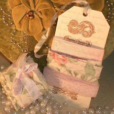 vintage paris tag pink seam binding lace ribbon lot 10 yards 28 636