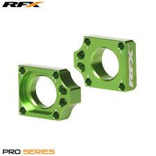 Kawasaki KLX 450 R 2009 RFX Pro Green Rear Wheel Axle Adjuster Blocks