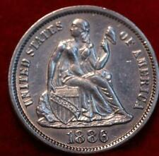 Uncirculated 1886 Philadelphia Mint Silver Seated Liberty Dime