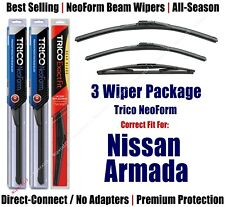 3-Pack Wipers Front & Rear NeoForm - fit 2005-2015 Nissan Armada - 16240/220/12B