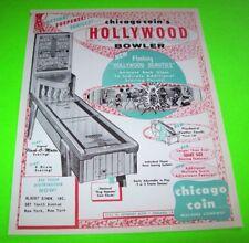 Chicago Coin 1955 HOLLYWOOD BOWLER Original NOS Arcade Game Shuffle Alley Flyer